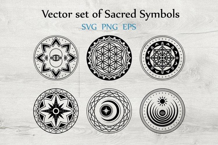 Svg Vector And Png Set Of 6 Sacred Symbols 513174 Cut Files Design Bundles