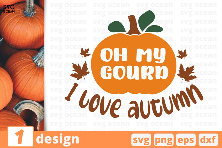 Oh my gourd SVG Cut file| Fall cricut | Autumn quote example image 1