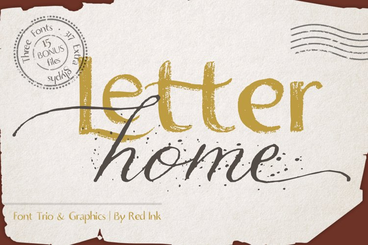 Letter Home. Font Trio Graphics. example image 1