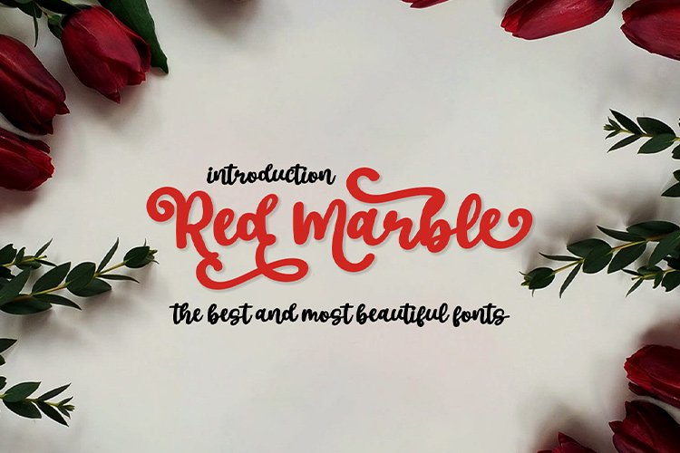 Red Marble || Beautiful Handwriting example image 1
