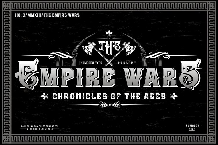 The Empire Wars (family font) example image 1