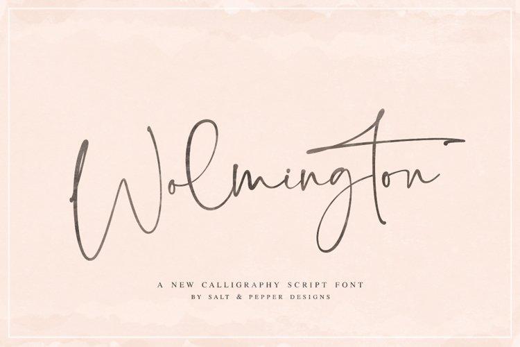 Wolmington Script Font example image 1