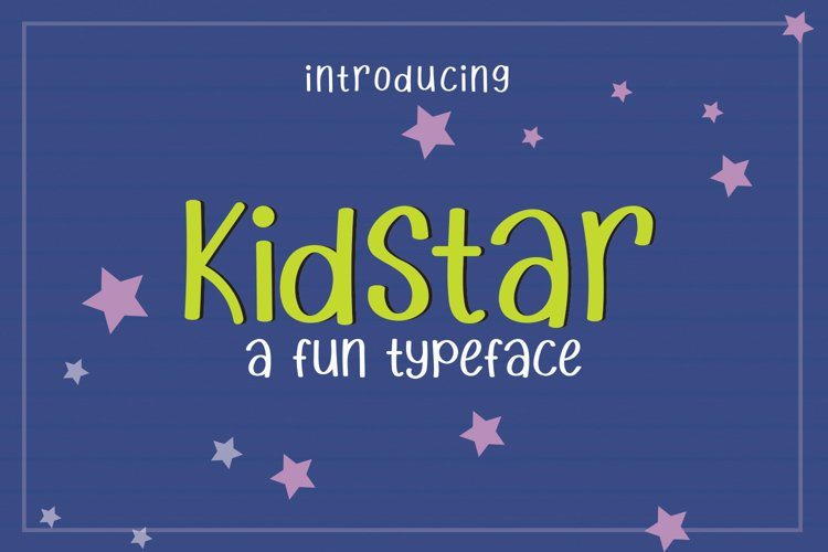 Kidstar - Fun and Cute Font example image 1