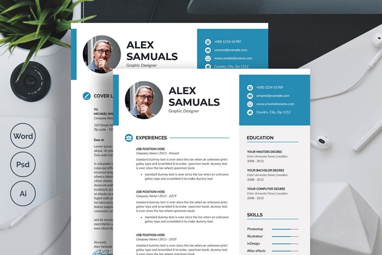 Resume CV, Template & Cover Letter example image 1