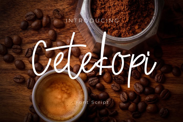 Cetekopi Font Script example image 1