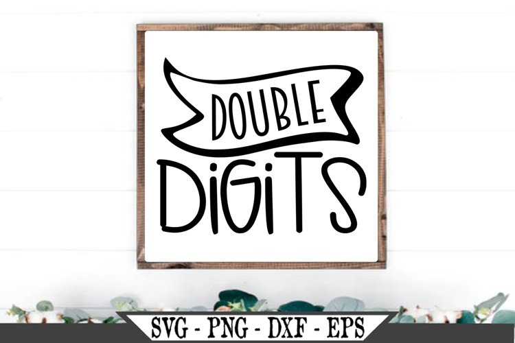 Double Digits SVG example image 1