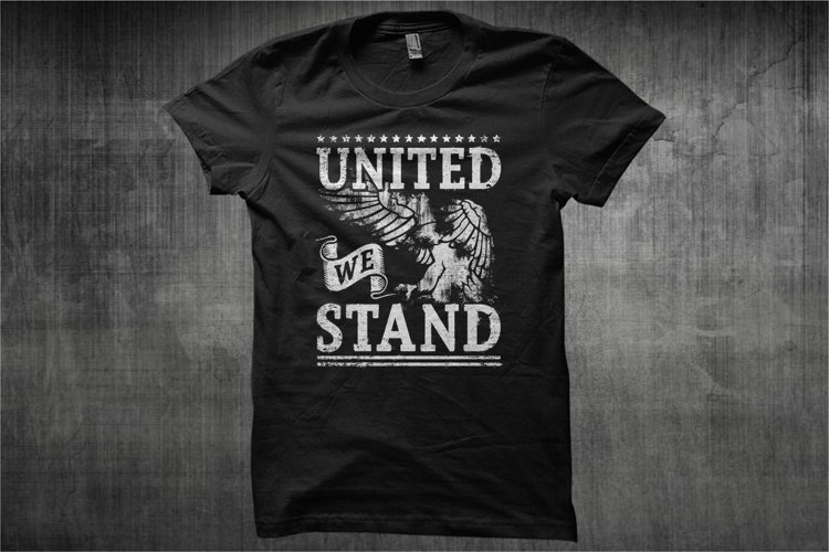 Typography American Themes - United We Stand