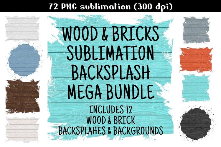 Sublimation Background Bundle, Wood & Brick Backgrounds