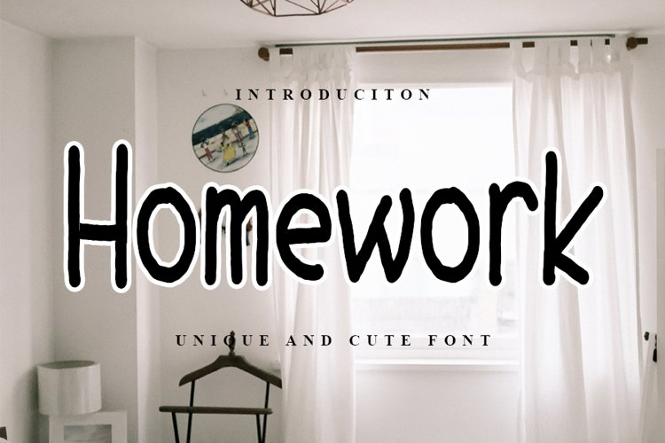 Homework - Uinque and Cute Font example image 1