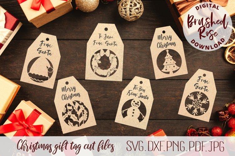 Christmas gift tags cut files, christmas svg, winter clip ar