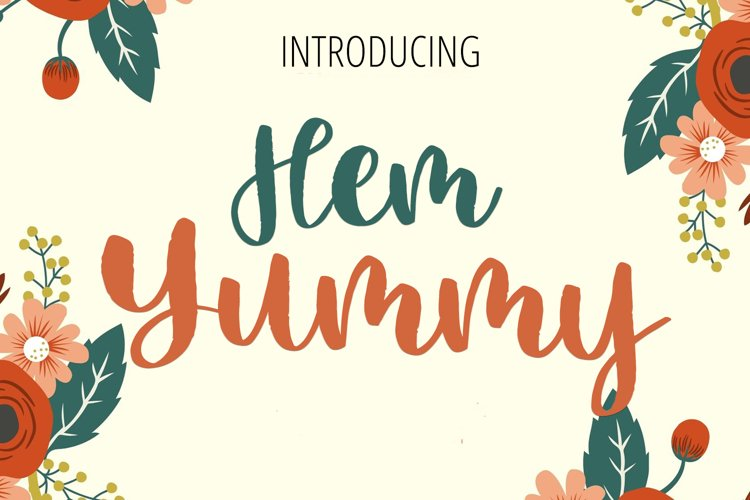 Hem Yummy Beauty Lettering Font example image 1