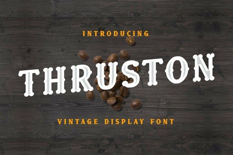 Web Font Thruston Font example image 1