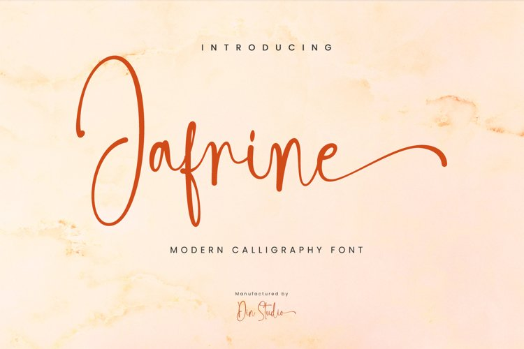 Jafrine-Modern Calligraphy Font example image 1