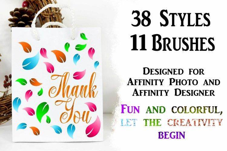 49 Affinity Photo/Designer Styles and Brushes Bundle
