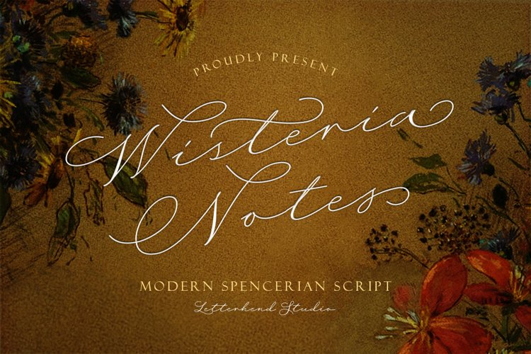 Wisteria Notes - Modern Script Font example image 1