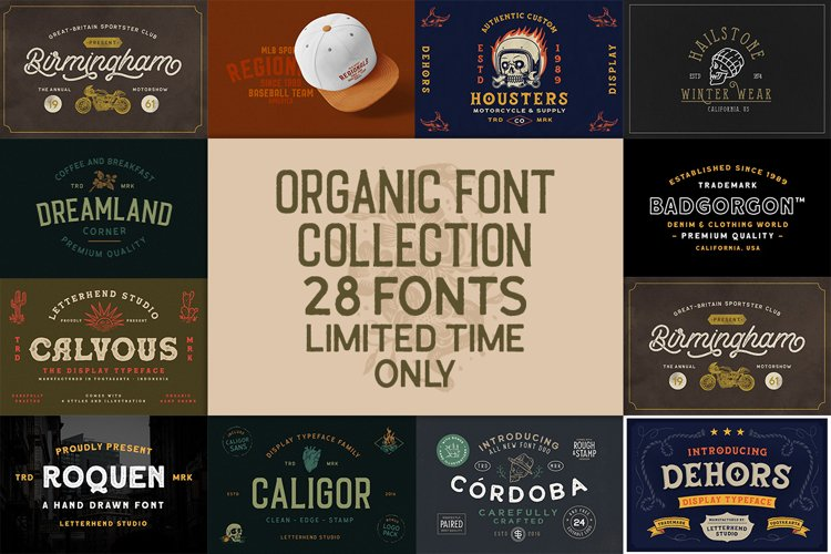 Organic Font Collection example image 1