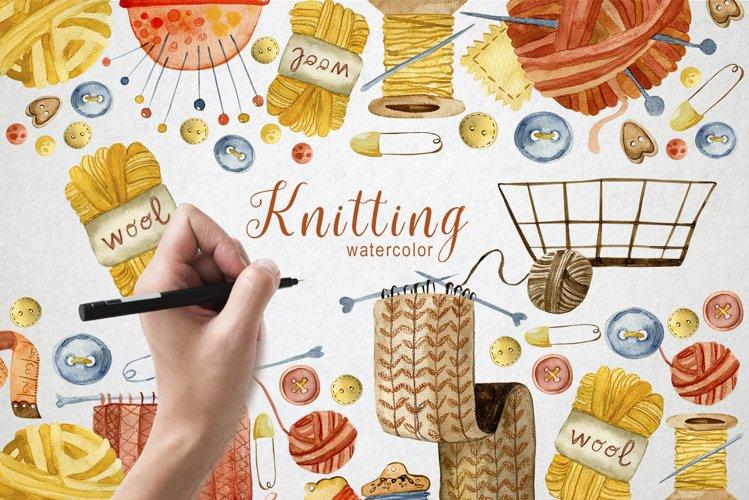 Knitting Watercolor Illustrations