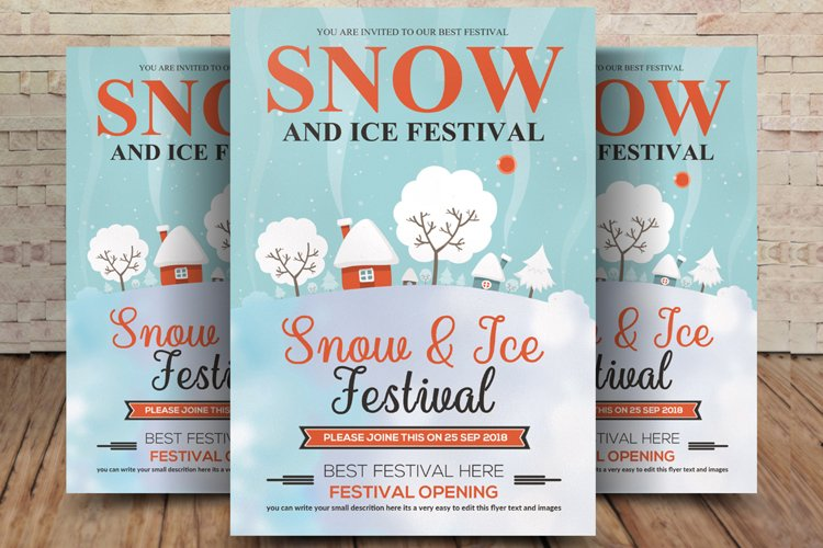 Winter Snow Festival Flyer example image 1