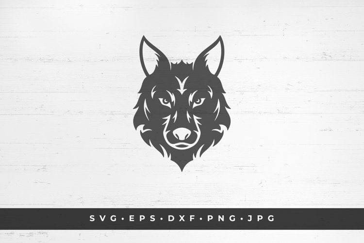 Wolfs head icon isolated on white background example image 1