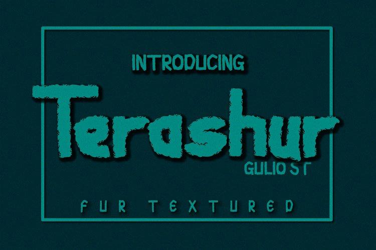 Terashur Textured Typeface example image 1