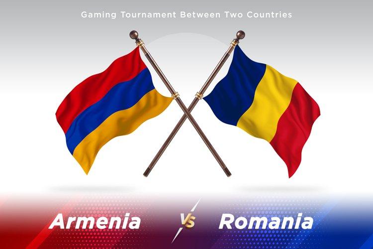 Armenia versus Romania Two Flags example image 1