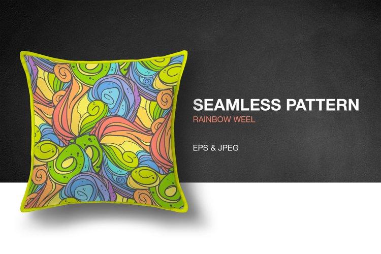 Rainbow Weel Seamless Pattern