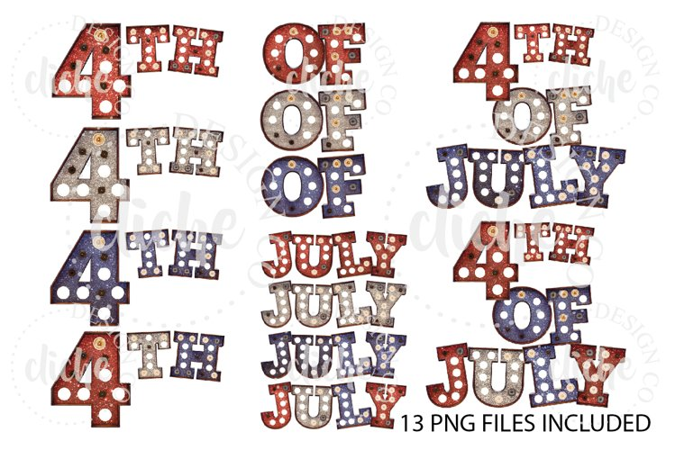 Fourth Of July Sublimation Design Elements Bundle