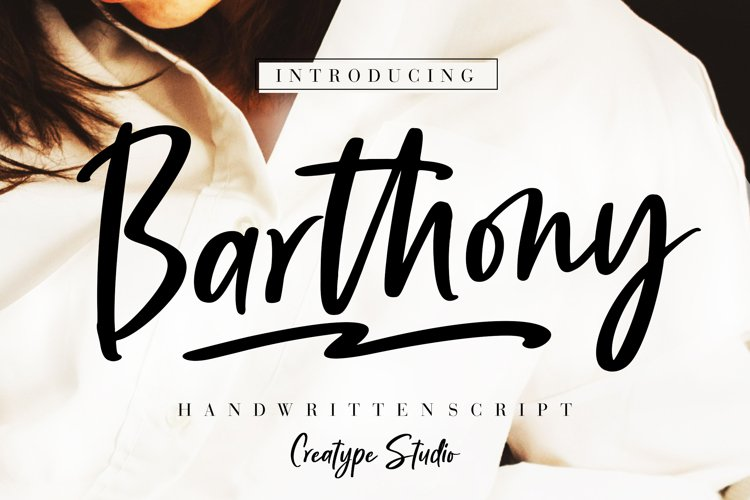 Barthony Handwritten Script example image 1
