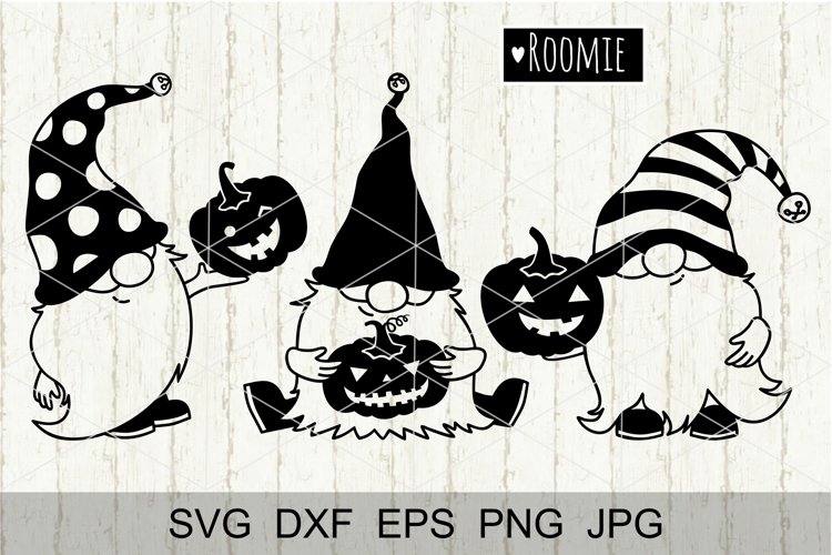 Halloween Autumn Gnomes Svg, Fall gnome SVG, Pumpkin SVG png example image 1