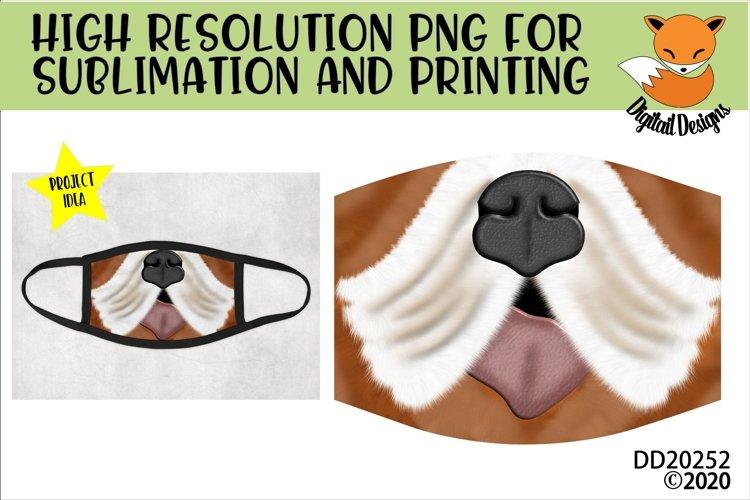 Bulldog Nose Mouth Face Sublimation Design For Masks