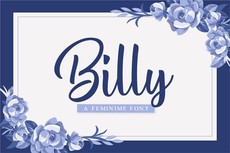 Web Font Billy example image 1