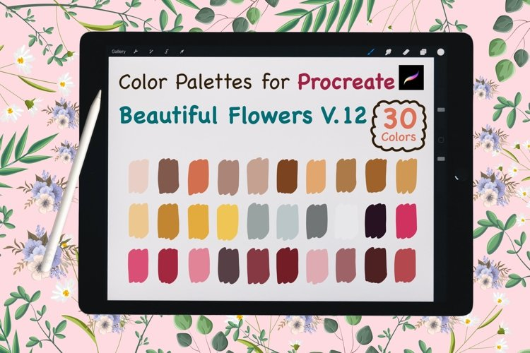 Color Palettes set for Procreate - Beautiful Flower V.12 example image 1
