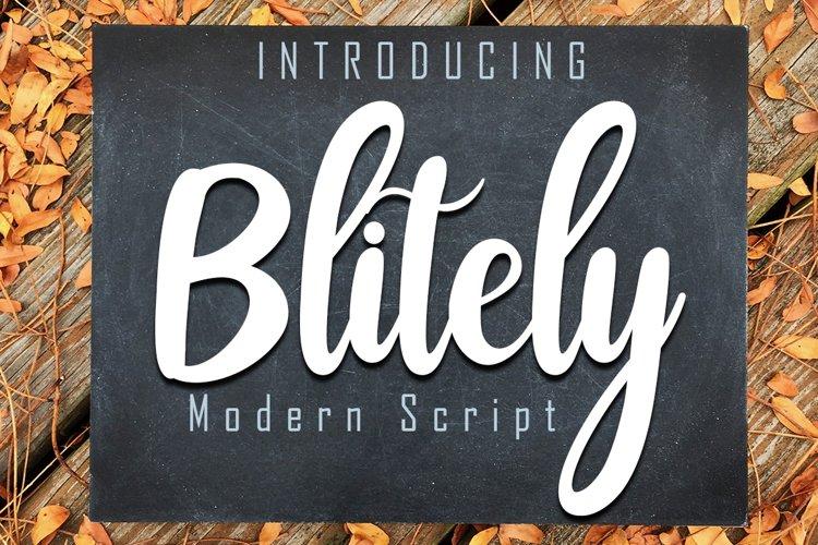 Blitely Modern Script example image 1