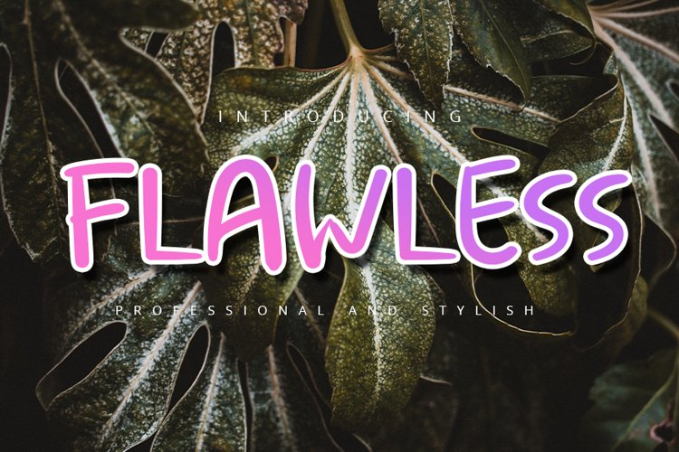 Flawless| Display Typeface Font example image 1