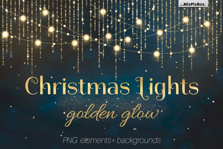 Christmas Lights Golden Glow example image 1