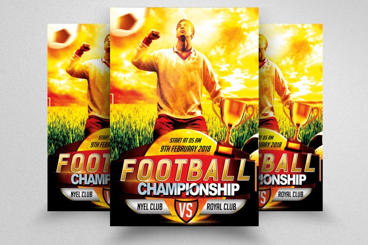 Football Championship Match Flyer Template example image 1