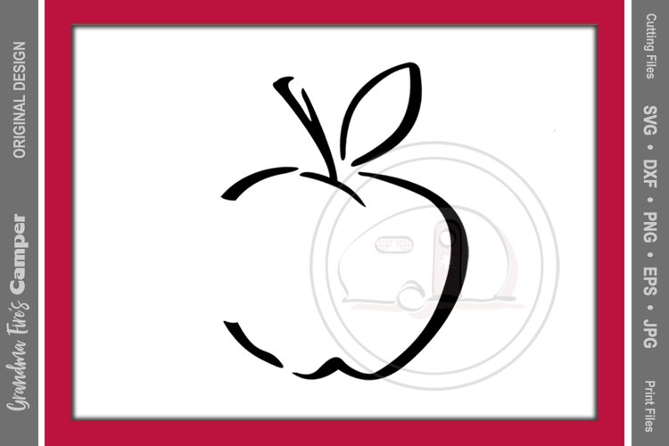 Teacher's Apple SVG. Teacher, Apple example image 1