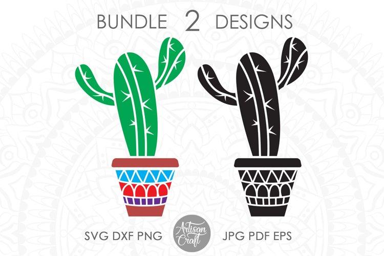 Cactus svg, cactus in pot, cactus vector, succulent clip art example image 1