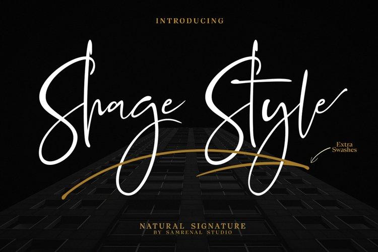 Shage Style Extra Swashes Font example image 1