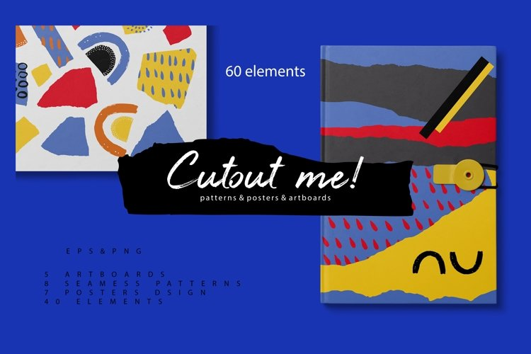 Cutout me! Abstract geometry paper cut pattern example image 1