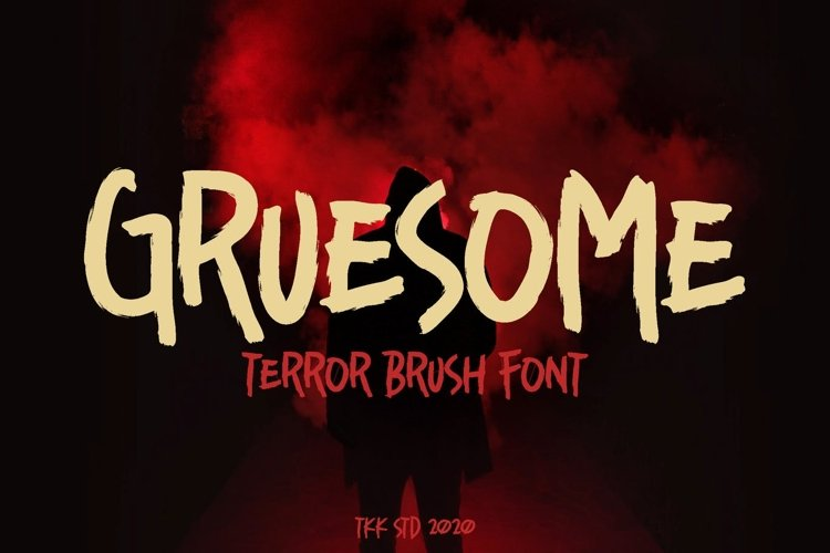 Gruesome - Horror Font example image 1