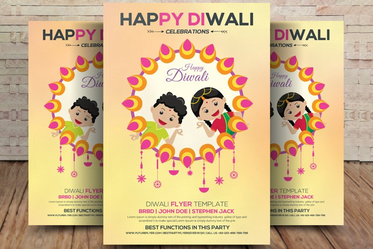 Indian Woman Celebrating Diwali Festival example image 1
