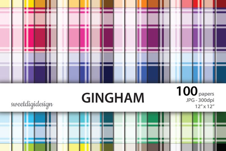 Rainbow color gingham backgrounds example image 1