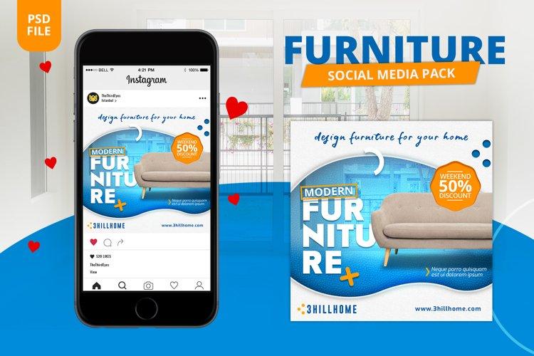 Furniture Social Media Pack example image 1