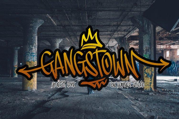 Gangstown GT - Graffiti Font