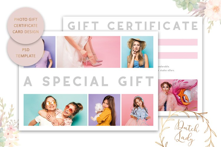 Photo Gift Card Template for Adobe Photoshop - #57