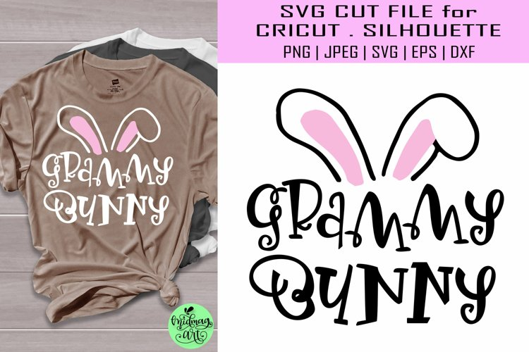 Grammy bunny svg, easter shirt svg example image 1