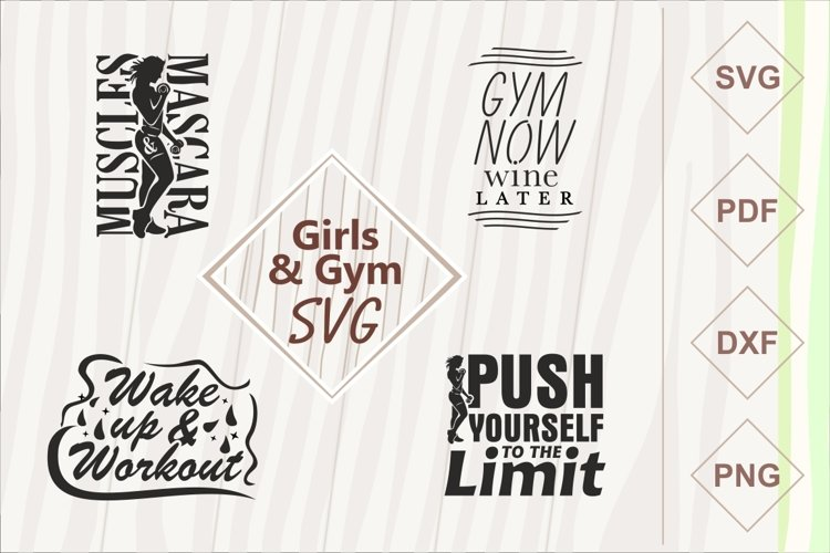 Girls and gym SVG bundle example image 1