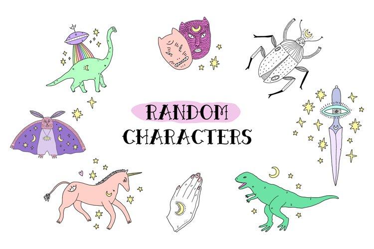 Random Vector Characters Set example image 1