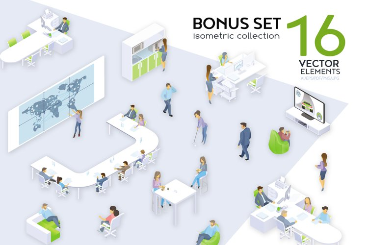 Office Workdays Isometric Design example image 1